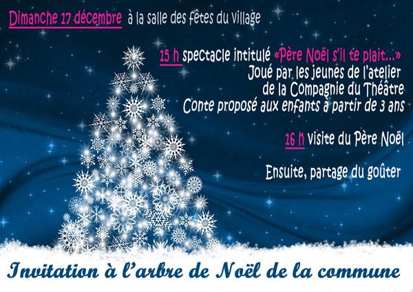 Dimanche 17 décembre le Père Noël s'invite à la salle des fêtes