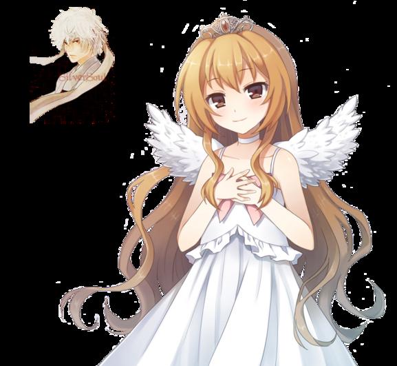 Render Animes et Manga - Renders Toradora Aisaka Taiga Ange Ailes Robe Blanche Couronne