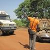 Côte d'Ivoire Accident sur piste dépannage