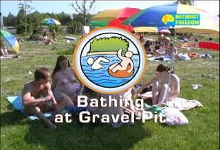 Naturist Freedom. Bathing At Gravel Pit.