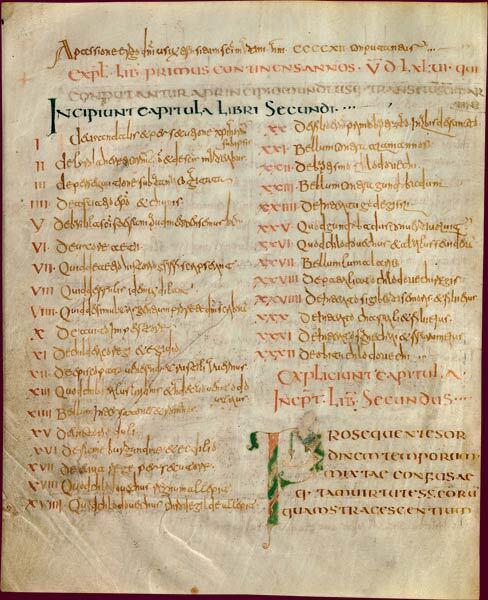 File:Grégoire de Tours, Histoire des Francs, livres 1 à 6-Initiale P en forme de poisson ouvrant le livre consacré à Clovis.jpg
