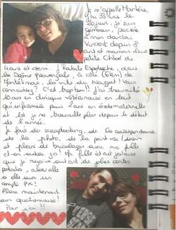 Le cahier voyageur de Marlène