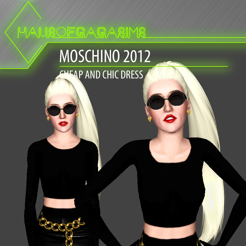 MOSCHINO 2012 CHEAP AND CHIC DRESS
