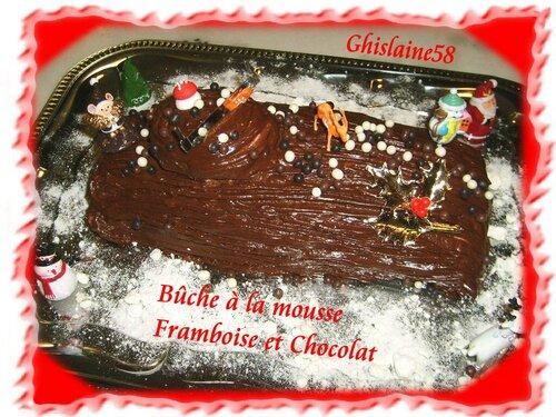 Bûche à la mousse Framboise et Chocolat