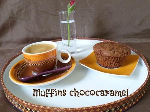 Muffins choco/caramel au éclats de salidou