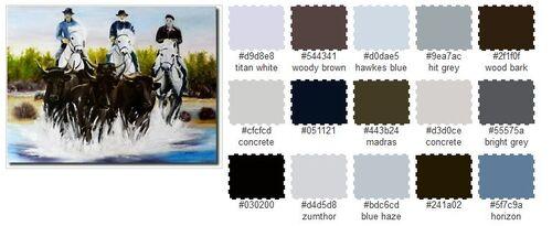 ◊ Analyses des teintes principales d'un tableau.