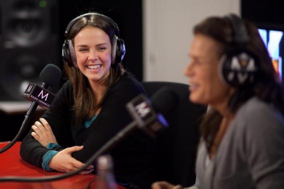 Stéphanie et Pauline à la radio