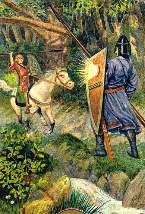 Attribuant à Roland une force surhumaine, la légende lui prête d'avoir combattu durant plusieurs journées le géant Fernagu (Ferracutus)