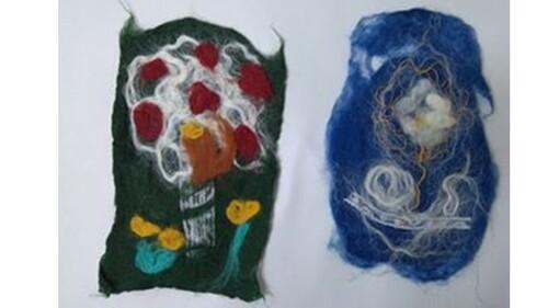 Tableaux en laine feutrée
