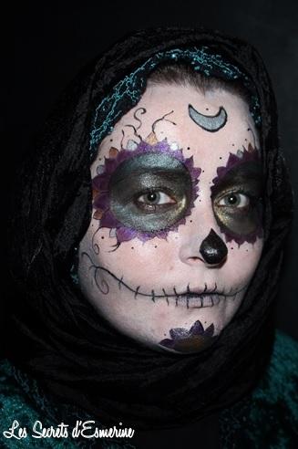 La Calavera Celte... ou mon essai de makeup Halloween