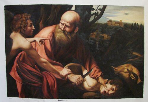 Dessin et peinture - vidéo 2958 : Comment peindre à la manière du Caravage () ? - Le portrait dans le sacrifice d'Isaac.