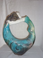 la danseuse:raku turquoise