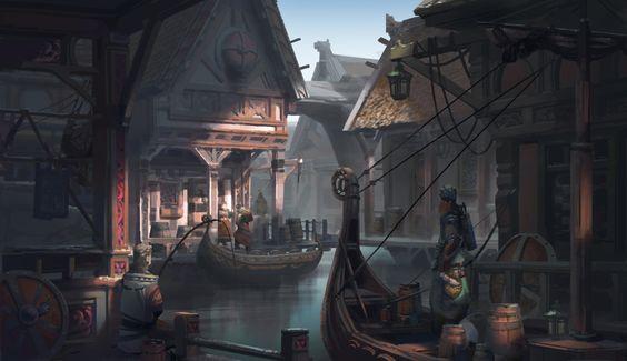 ArtStation - Viking town, serflygod shi