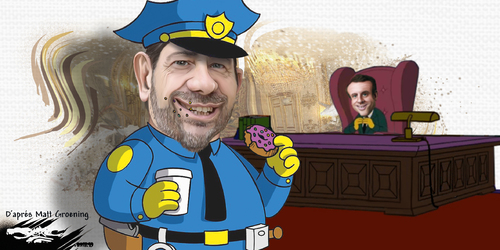 dessin de JERC et AKAKU du jeudi 25 octobre 2018 caricature Christophe Castaner Castaner : Je castagne, tu castagnes, il castagnette www.facebook.com/jercdessin @dessingraffjerc