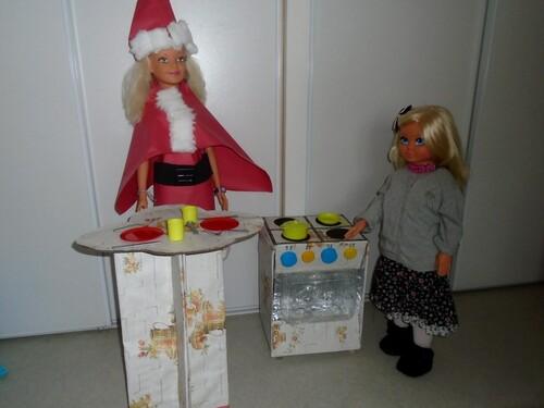 Sabine et Cathy font la cuisine