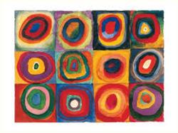 Le rond à la manière de Kandinsky et Delaunay