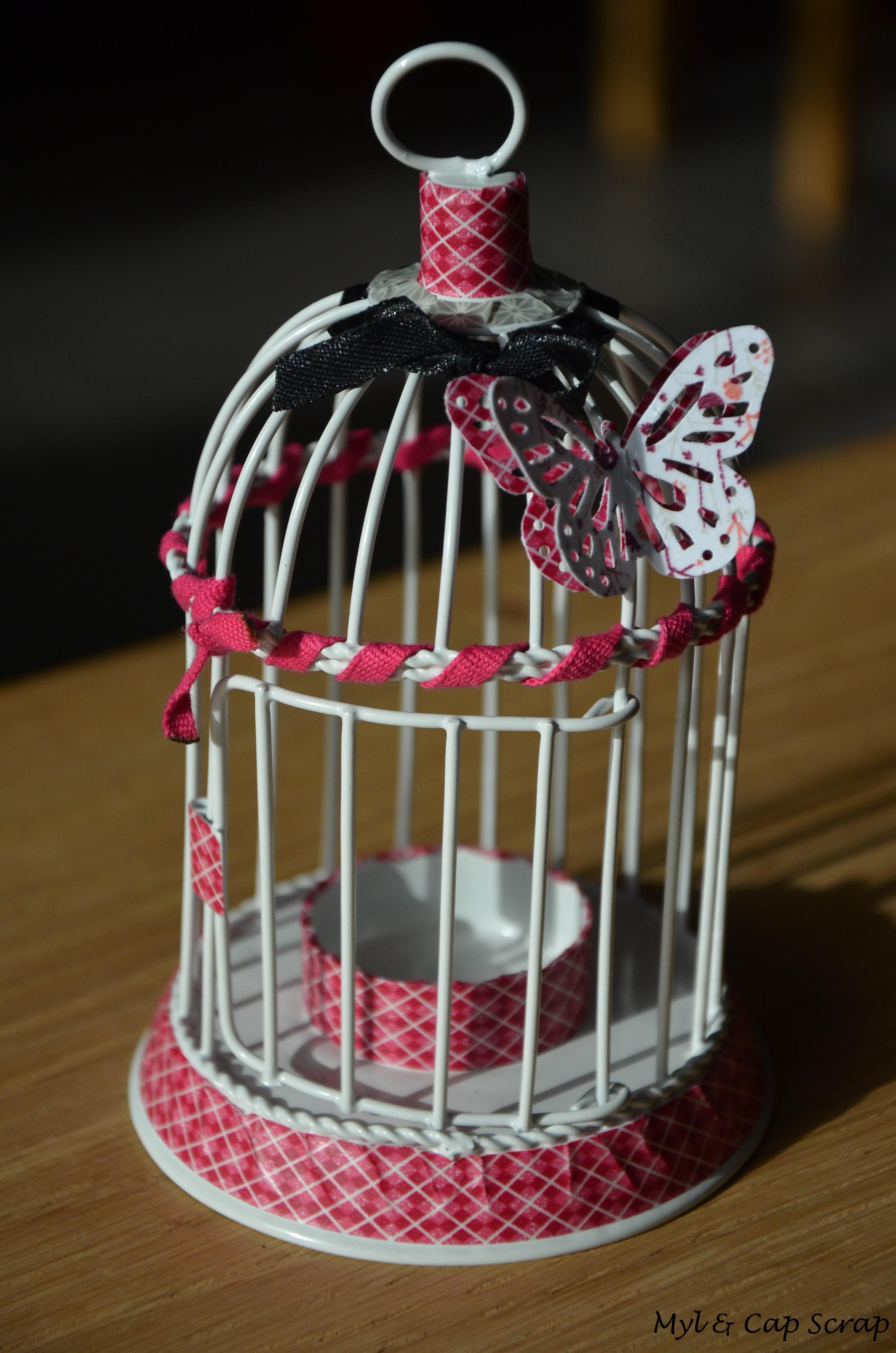 caps cadeau de noel photophore cage oiseau myl cap scrap. Black Bedroom Furniture Sets. Home Design Ideas