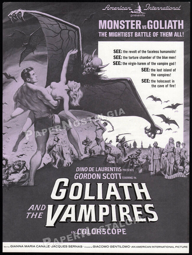 GOLIATH AND THE VAMPIRE BOX OFFICE USA 1964