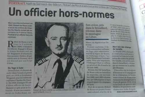 * Le Lieutenant colonel DE ROUX, un officier hors normes
