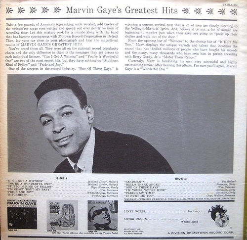 "Marvin Gaye : Album "" Marvin Gaye's Greatest Hits "" Tamla Records TM 252 [ US ]"