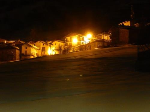 village de Sambuco la nuit