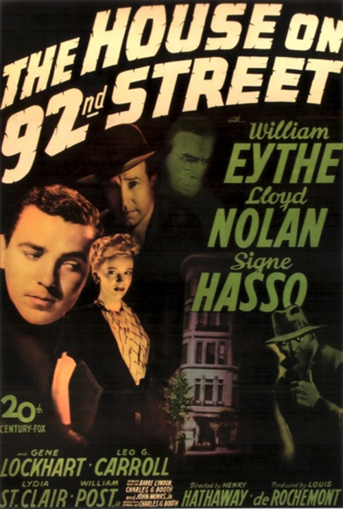La maison de la 92ème rue, The house on the 92nd street, Henry Hathaway, 1945