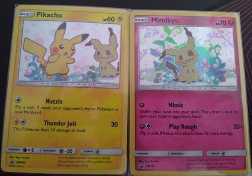 Carte promotionnelle Pikachu et Mimikyu (SM162 & SM163)