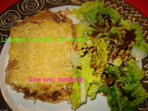 Lasagnes au Confit de Canard