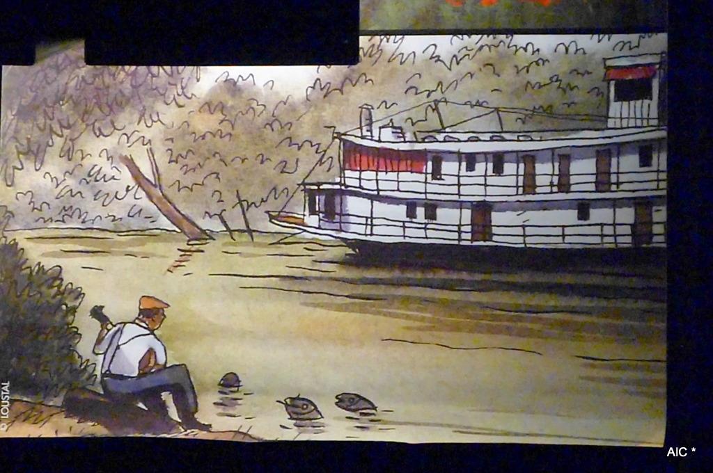 Longtemps plus tard... (Cependant le premier bateau à roues à aubes datait d'un an plus tôt...)