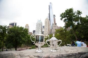 Les trophées de l'US Open