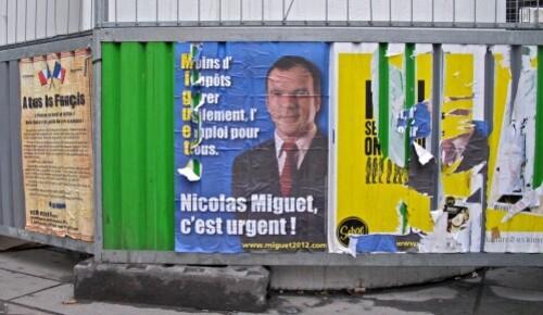 affiche Présidentielle 2012 élections Miguet 6508