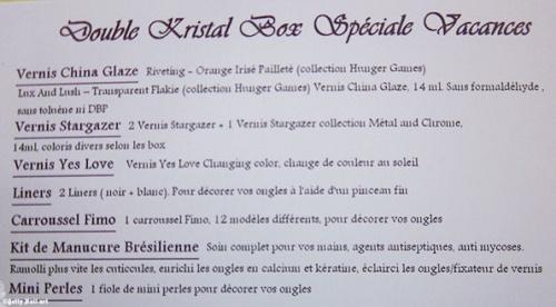 Krystal box vacances ... le jour de ma prise de conscience !