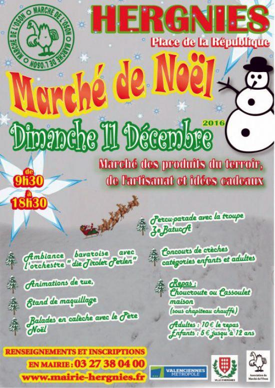 Marché de Noël, à Hergnies