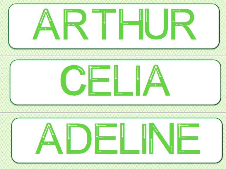 Complètement et trop extrême Apprendre à écrire son prénom en majuscules - Le jardin d'Alysse #SU_35