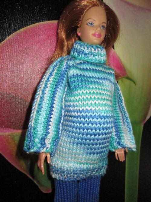 Pulls et pantalons de maternité pour barbie enceinte