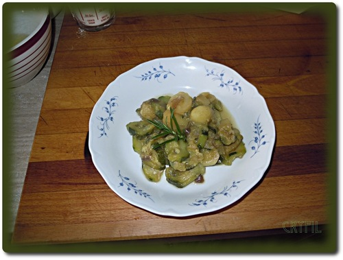 Poêlée de courgettes et de pommes de terre