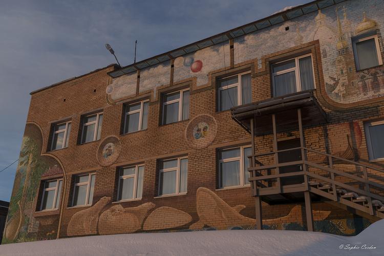 Virée à Barentsburg - 3e partie : la ville et couchersssssssssssssssssssss de soleil