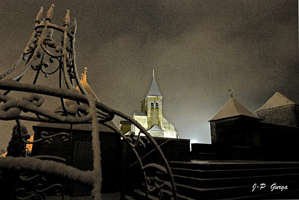 Jean-Pierre Gurga a pris de superbes photos de Châtillon sous la neige....
