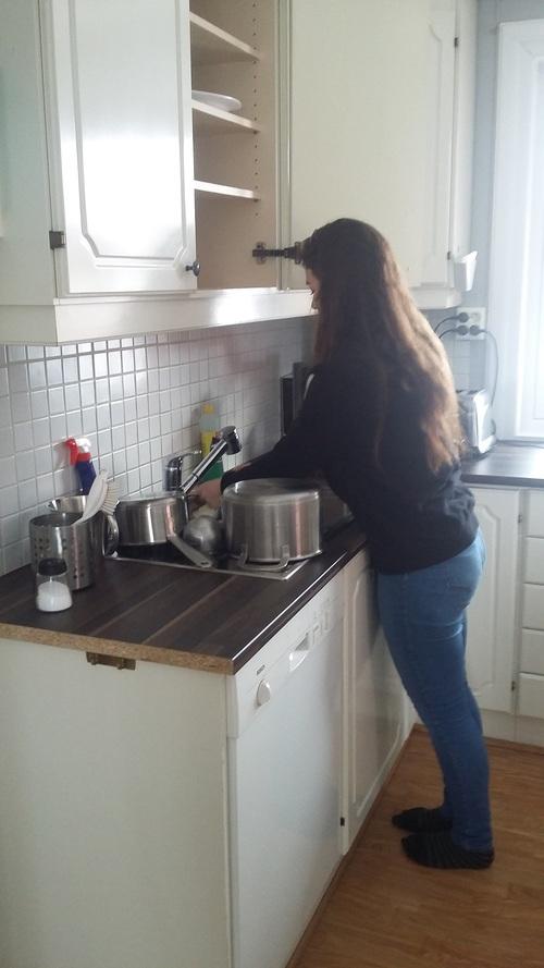 reine des neiges et de la vaisselle