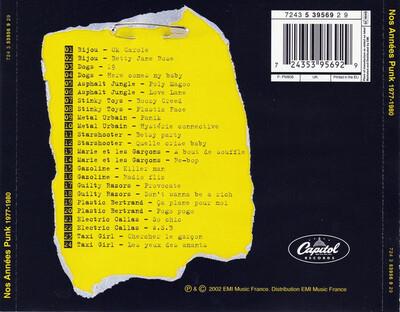 Compil' : Nos Années Punk 1977/1980