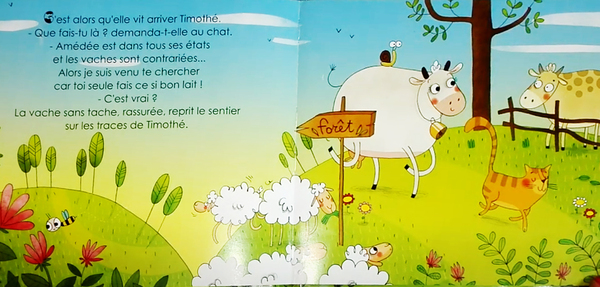 La vache sans tâche