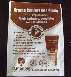 crème confort des Pieds