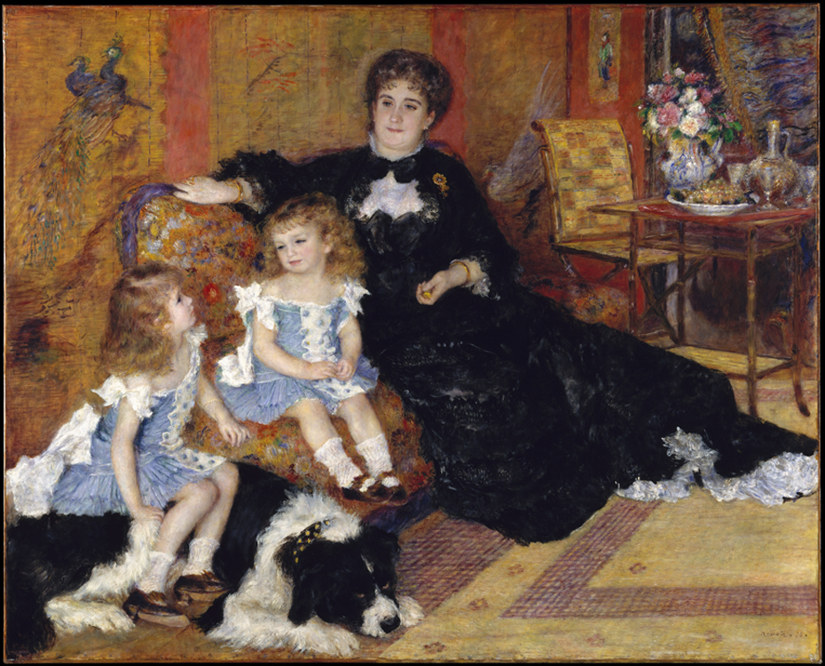 « Madame Charpentier et ses enfants », 1878, Pierre-Auguste Renoir, Metropolitan Museum of Art, New-York.