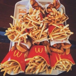 Image de food, McDonalds, and fries