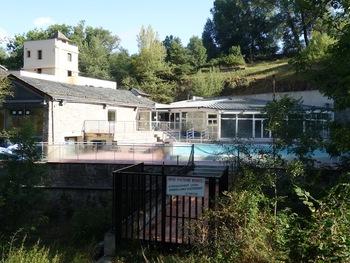 Les piscines extérieures des Bains