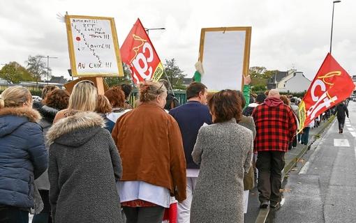 Hopital de Cornouaille-Les manifestants déposeront une motion à l'ARS jeudi (LT.fr-8/11.19-17h25)