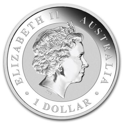 AUSTRALIE PIÈCE D'ARGENT DE 1 DOLLAR OISEAU LE KOOKABURRA