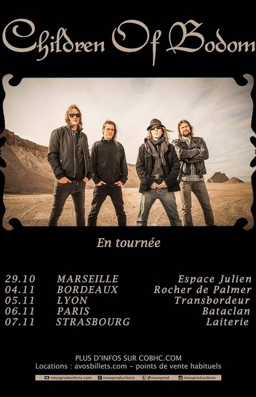CHILDREN OF BODOM_French Tour 2015