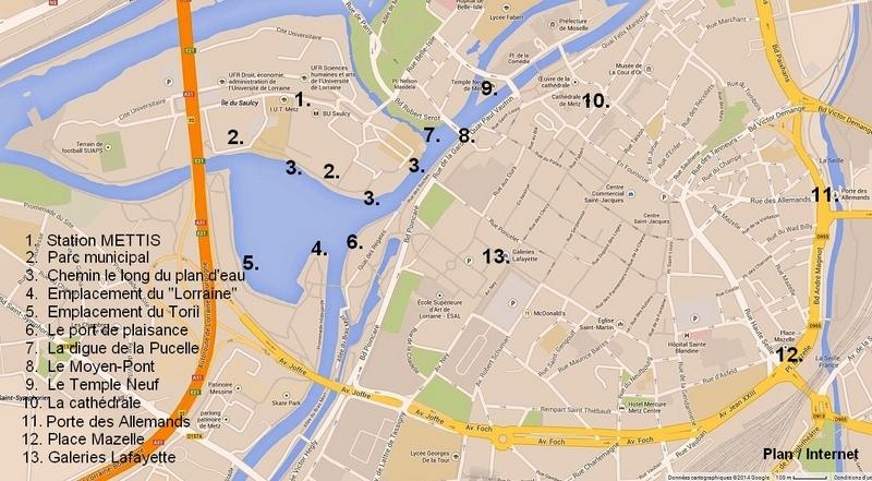 Metz / En été le plan d'eau...