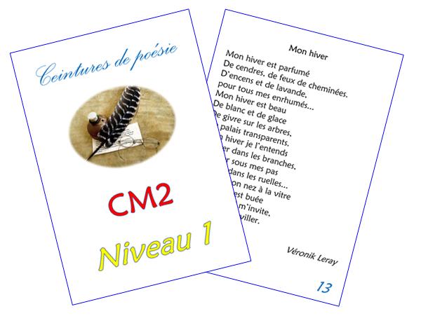 Ceintures De Poésie Cm2 Chez Monsieur Paul